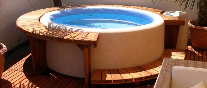 Banheira, spas, ofurôs e saunas